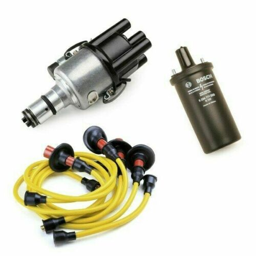 Yellow Wires 12V Bosch Black Coil Vw Bug Ignition Kit With 009 Distributor