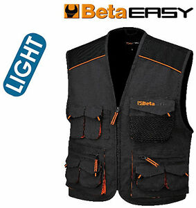 Gilet-lavoro-leggero-Beta-Utensili-Work-7867E-leggero-grigio