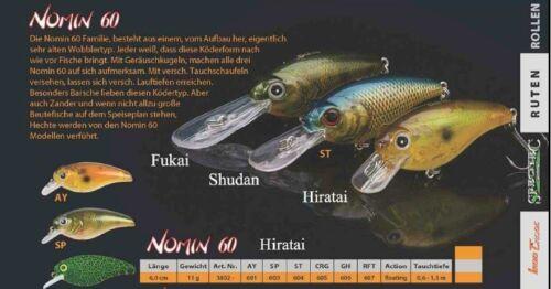 Nomin 60  HIRATAI  DOIYO Concept Länge 11g 6,0cm  Gewicht