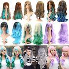 Girl Lady Moda Peluca Largo Pelo Ondulado Rizado Cosplay Disfraz Party Full Wig