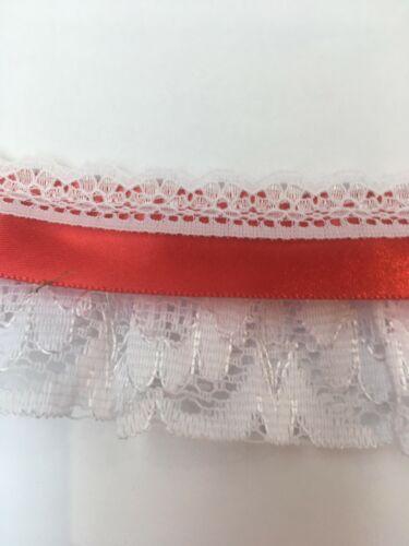 Frilledembroidered Organza Y satinado de encaje de 2 pulgadas de ancho todos los colores desde £ 1.60 MT