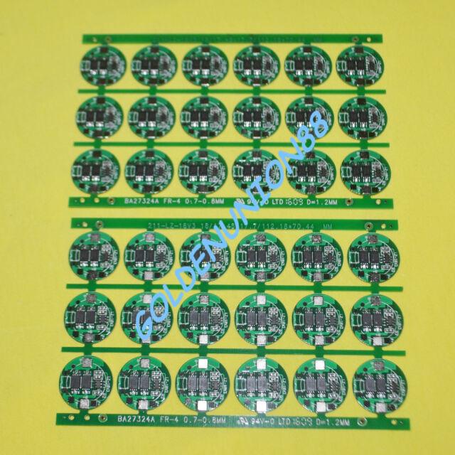36PC 1S 3.5A PCB PCM for 3.6V 3.7V 18650 18500 Li-ion battery protection circuit