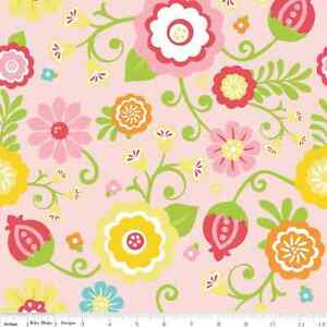 SIMPLY-SWEET-PINK-RILEY-BLAKE-BRUSHED-100-COTTON-FLANNEL-FABRIC