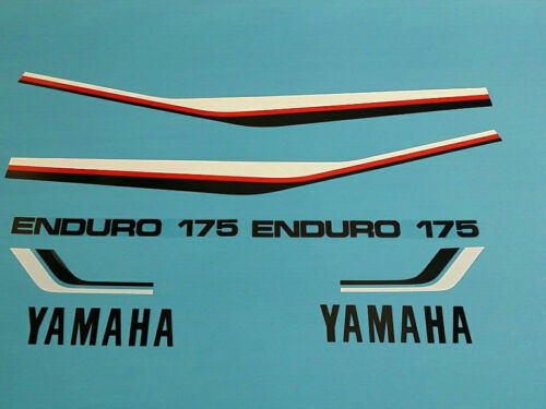 YAMAHA DT175 1981 TANK AND SIDE COVER DECAL GRAPHIC SET #Y25