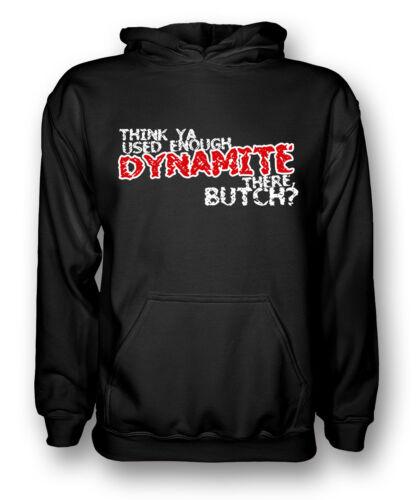 THINK YA usato abbastanza DYNAMITE-Butch Cassidy-Uomo Felpa con Cappuccio