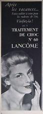 PUBLICITÉ DE PRESSE 1953 LANCOME TRAITEMENT DE CHOC N°60 - ADVERTISING