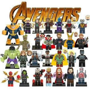 Lego-Marvels-Minifigures-Super-Heroes-Black-Panther-Avengers-MiniFigure-Blocks
