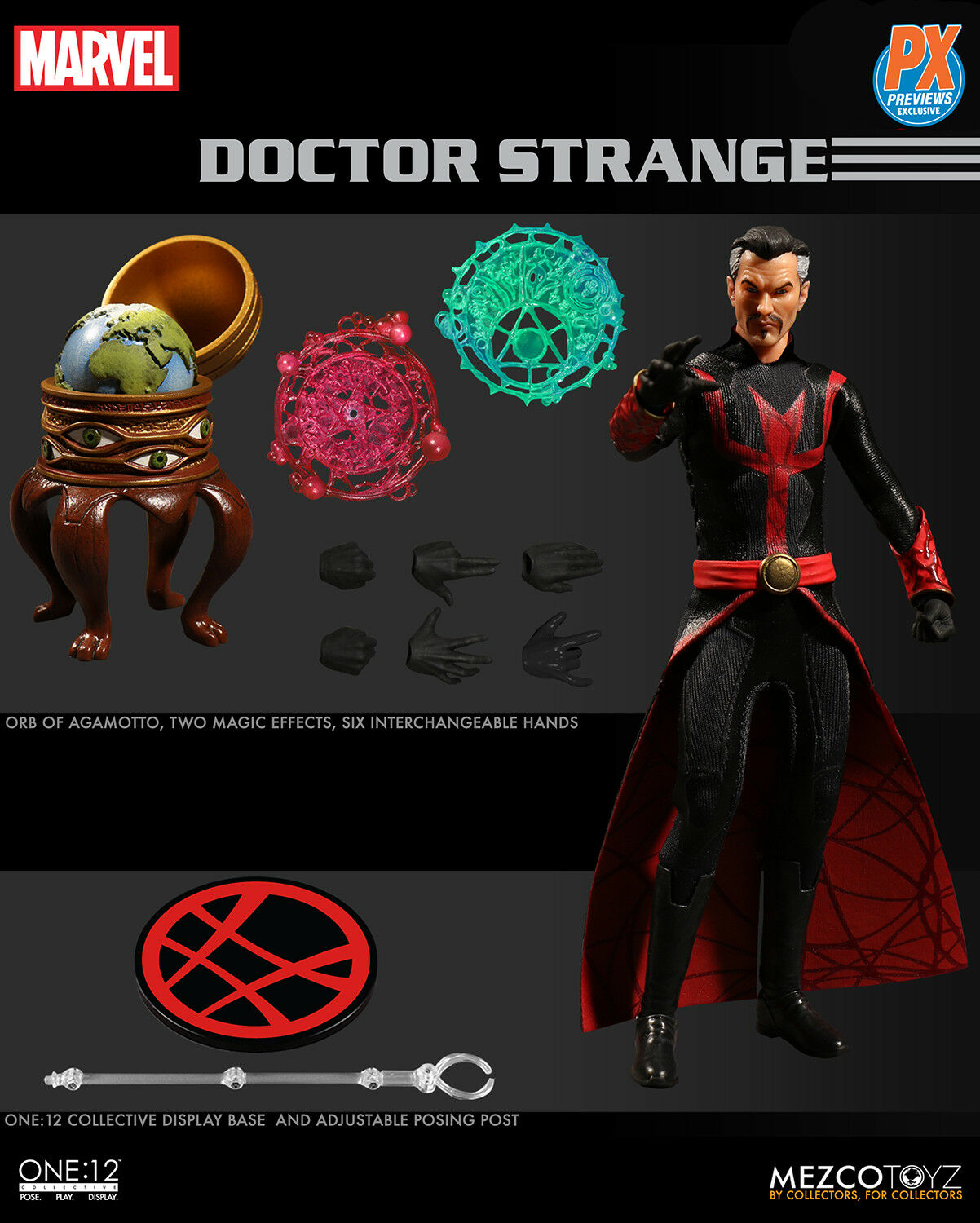 MEZCO DEFENDERS DOCTOR STRANGE PX EXCLUSIVE