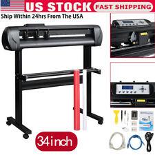 34 Inch Vinyl Cutter Plotter Machine Vinyl Plotter Printer With Cut Software A