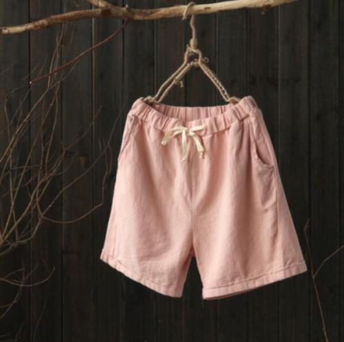 Hot Cotton Linen Women Casual Summer Trousers Beach Shorts Pants Oversize Sports