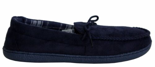 MENS SUPER LIGHTWEIGHT SLIP ON WARM WINTER COMFY MOCCASINS SLIPPERS SHOES SIZE