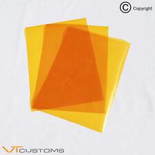3 x A4 fogli arancione per fari pellicola per Fari Antinebbia Tinta Fumo Auto Vinile Wrap