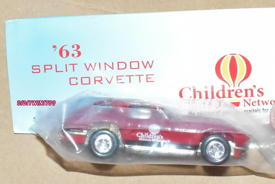 HOT WHEELS 8TH ANNUAL NATIONALS '63 SPLIT WINDOW CORVETTE RED REAL RIDERS W+