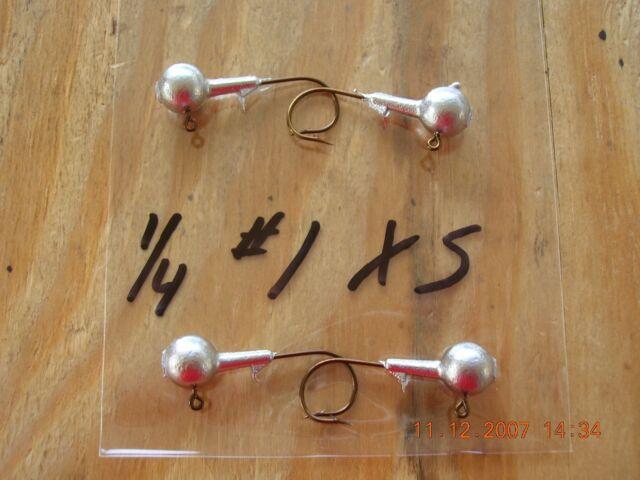 25 5//8oz Round Head Jigs Mustad Bronze Hooks  2//0  3//0  or 4//0 You Choose