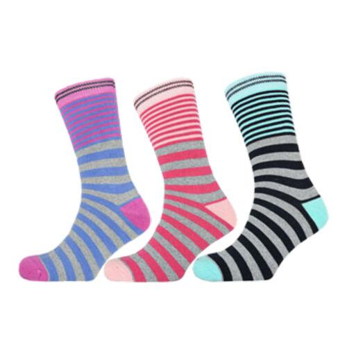 Womens Patterned Thermal Socks Ladies Aztec Diamond Reindeer Stripe Designed 4-7