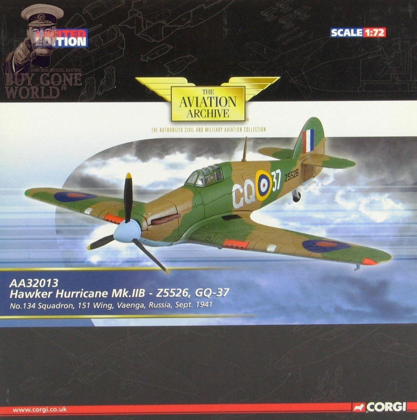Corgi AA32018 Huracán Mk II No.134 Sqn, Z5226, vaenga, URSS, septiembre de 41 00031860