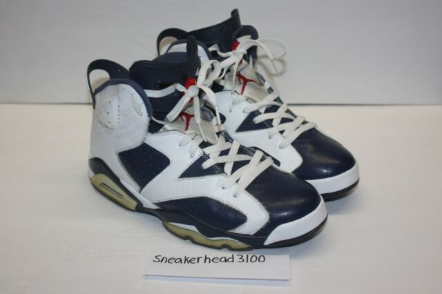 new concept 9f218 a788e Nike Air Jordan 6 VI Retro Olympic Size 10 Red White Navy 384664-130 2012