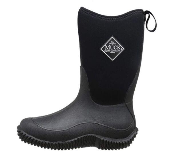 Kids Black Boots Wellies Girls Boys UK