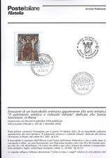 ITALIA 2001 SANCTA SANCTORUM IN ROMA BOLLETTINO COMPLETO DI FRANCOBOLLI FDC