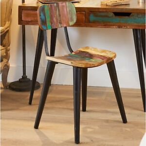 Image Is Loading Coastal Chic Set Of Two Dining Chairs Reclaimed