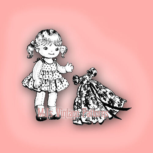 Vintage Girl Doll w// Snowsuit Pattern