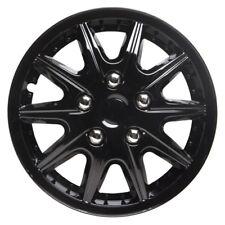 Revolution 15 Inch Wheel Trim Set Gloss Black Set of 4 Hub Caps Covers - TopTech