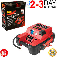Auto Battery Jump Starter Air Compressor 750 Peak Amps Portable Car Suv Charger