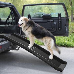 Dog Ramp For Truck >> 62 Portable Dog Ramp For Large Pet Folding Trunk Back Seat Ladder