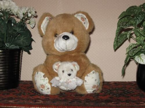 Old Vintage 9 Inch Dutch Teddy Bear Mom and Baby