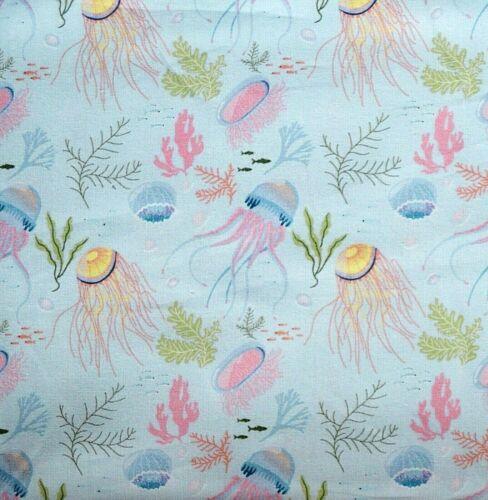 100/% tissu de coton imprimé numérique méduses largeur 150 cm-Little Johnny collection