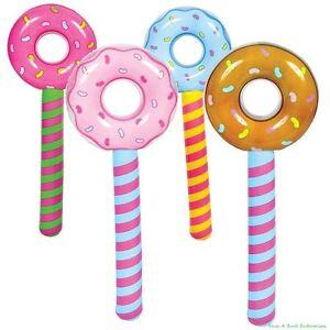 (4) Lollipop Suckers Gonflable Anniversaire Donut Trous Wonka Candyland Valentine-afficher Le Titre D'origine