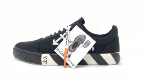 Dans toile Eu41 authentique Uk7 100 Vans la main Vulc noires blanches Baskets en U1wnv