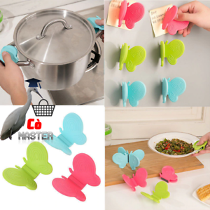 Butterfly Silicone Anti-Scald 3Pcs Non-slip Gripper Holder Kitchen Cooking Tools