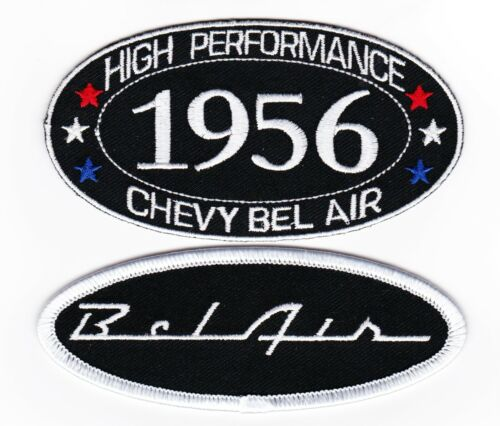1956 CHEVY BEL AIR SEW//IRON ON PATCH BADGE EMBLEM EMBROIDERED HOT ROD MUSCLE CAR