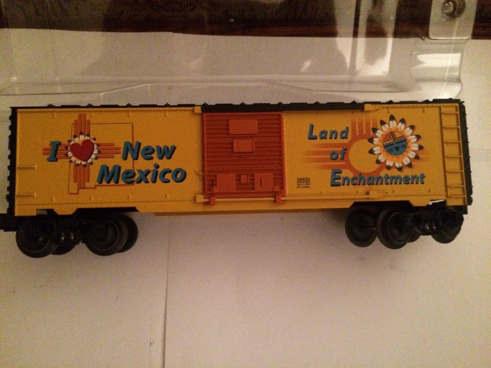 Lionel 29933 Jag älskar New Mexico låda Bil New in låda