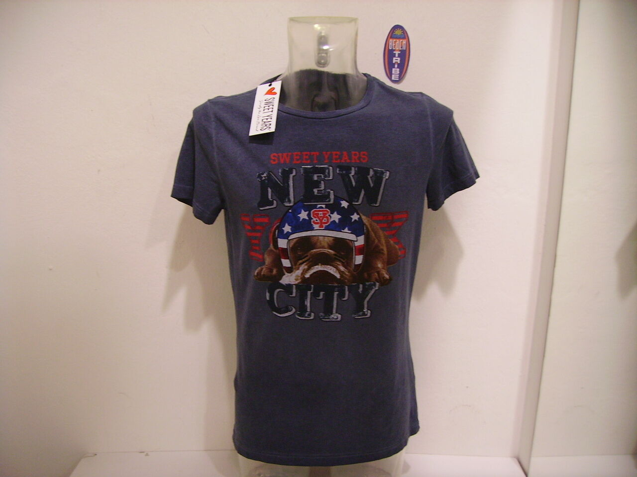 Sweet Years Men's T-Shirt JERSEY M short Syu833 bluee Capo Washed L