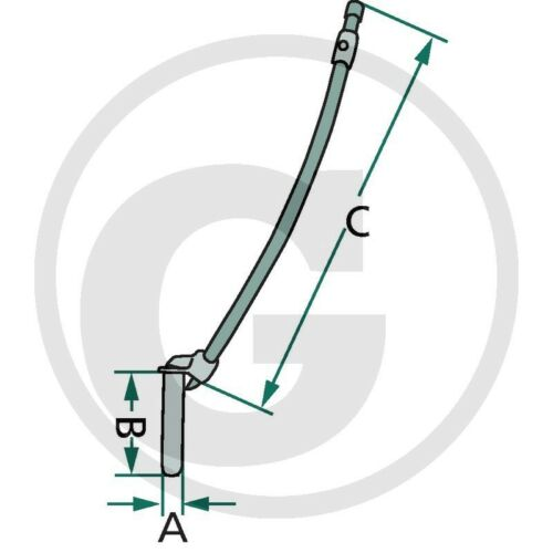 Kupplungsbolzen gebogen/_Bolzen/_AHK/_System Deutz/_31x150x600mm