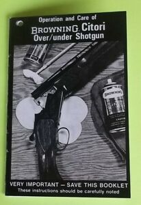 browning owner s manual citori over under shotgun 17 pages of rh ebay com browning citori parts manual browning citori 725 manual