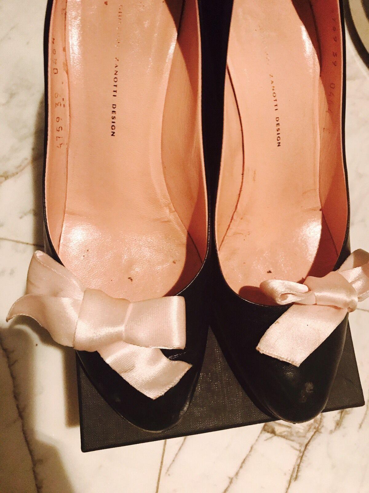 il più recente Giuseppe Zanotti Cute rosa Bow Wedges Heels scarpe scarpe scarpe Pumps Sz39  la migliore offerta del negozio online
