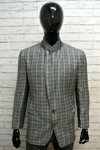 Giacca-GIORGIO-ARMANI-Uomo-Taglia-M-Maglia-Blazer-Jacket-Man-Regular-Lana-Grigia
