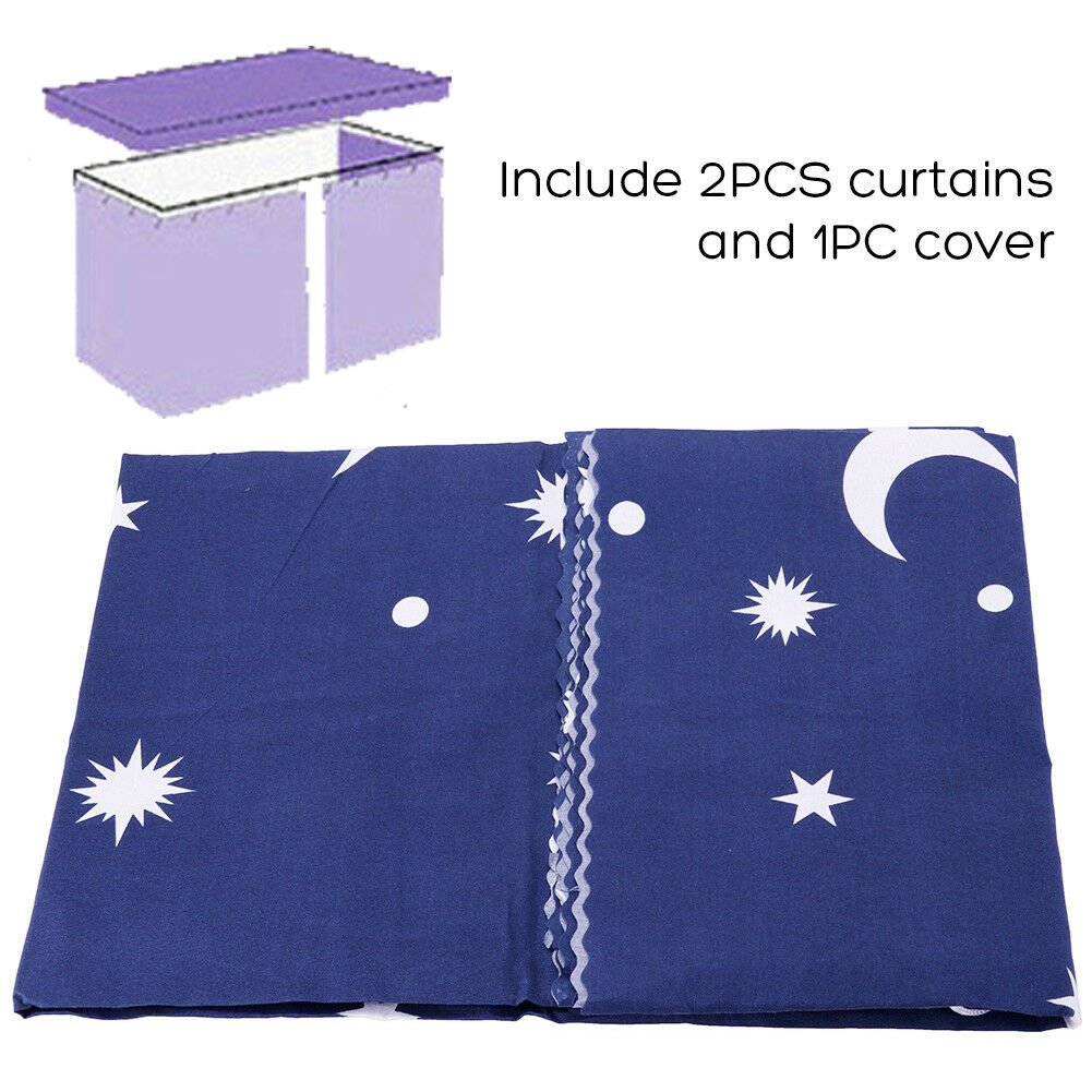 Bunk Bed Single Bed Tent Curtain Cloth Dustproof Ventilation Blackout Fabric#a