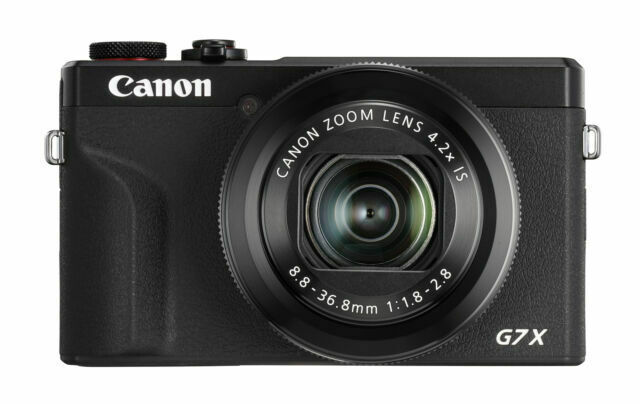 Canon PowerShot G7 X Mark III 20.1MP 4.2x Optical Zoom Digital Camera-Black 3637C001