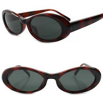Old School Classic Genuine Vintage 70s 80s Deadstock Brown Frame Oval Sunglasses