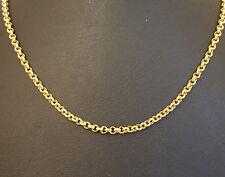 """9Carat Yellow Gold 18"""" Round Belcher Chain (3mm Width)"""