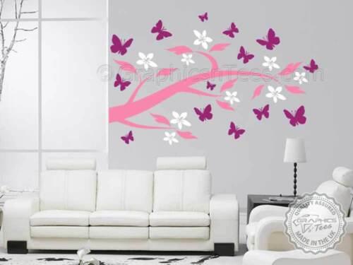 Tree Flower Wall Sticker Home Decor Mural Vinyl Wall Decal Butterfly Stickers