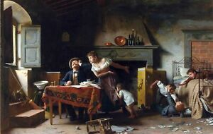 Home-Sweet-Home-by-Italian-Pietro-Saltini-Life-Art-11x17-Print