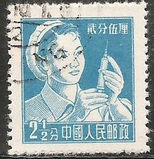 "PRC China Stamp - Scott #276/A63 2 1/2f Blue ""Nurse"" Used/LH 1956"
