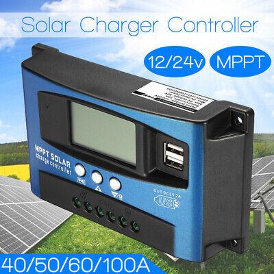 100a Solar Panel Battery Regler Laderegler 12 Heimwerker 24v Auto Mit Dual Usb