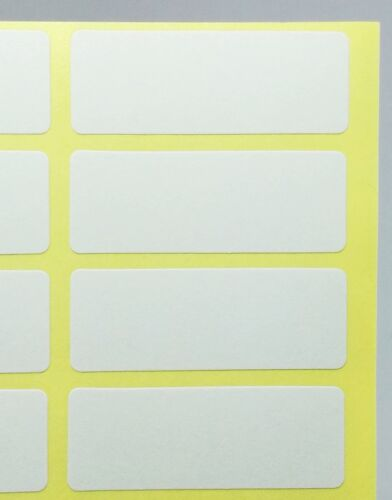 240 Pcs 19x50 mm White Sticky Labels Price Stickers Tags Blank Self Adhesive 8 P