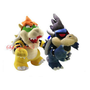 Details About 2pcs Super Mario Bros Bowser Dark And King Koopa Plush Doll Stuffed Xmas Gift